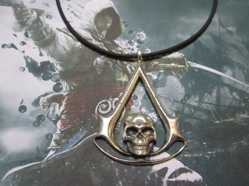 Silver Pendants Assassin S Creed Black Flag Silver