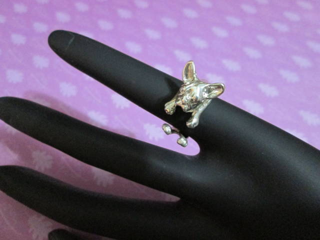 Bulldog Francese - Anello (Argento) - French Bulldog - Ring (Silver)