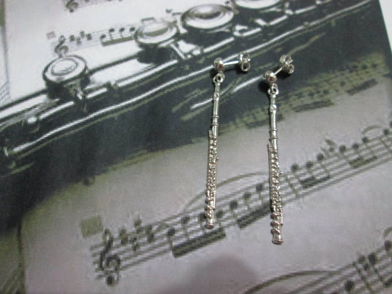 Flauto Traverso Orni Transverse Flute Earrings