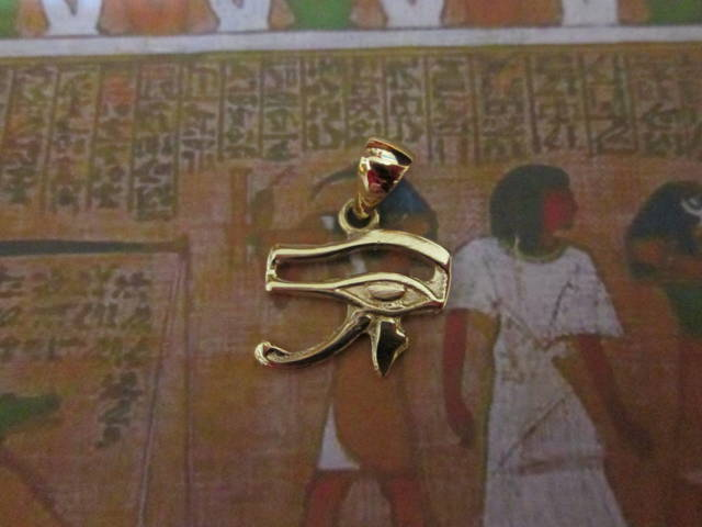 Occhio di Horus (Piccolo) - Ciondolo (Oro) - The Eye of Horus (Small) - Pendant (Gold)