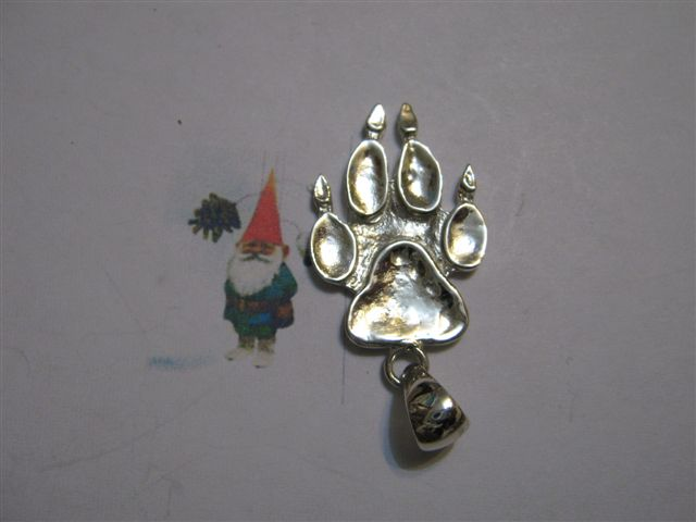 Orma Cane e Gatto - Ciondolo (Argento) - Cat and Dog Footprint - Pendant (Silver)