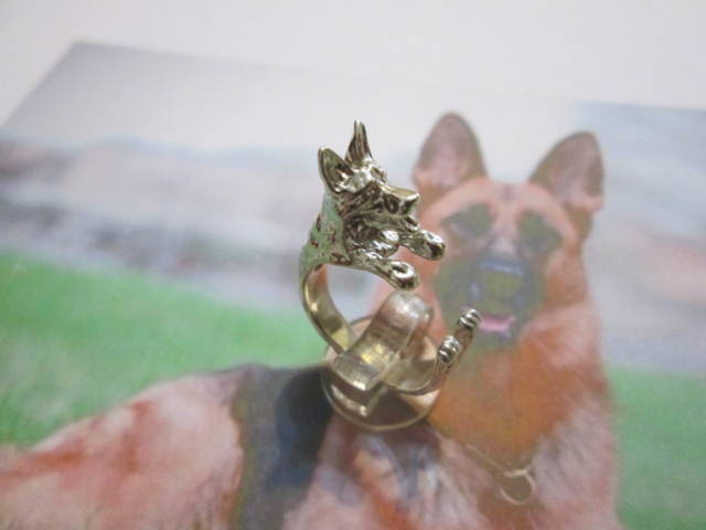 Pastore Tedesco - Anello (Argento) - German Shepherd - Ring (Silver)