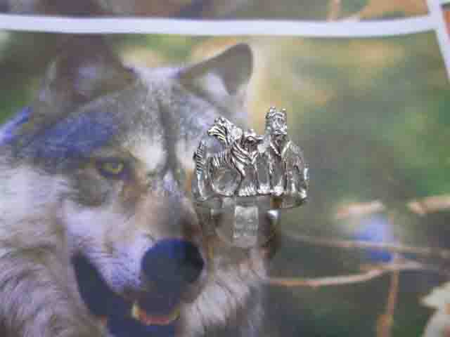 I Cinque Lupi - Anello (Argento) - The Five Wolves - Ring (Silver)