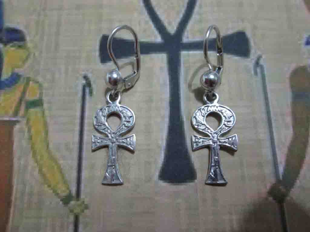 Ankh - Orecchini (Argento) - Ankh - Earrings (Silver)