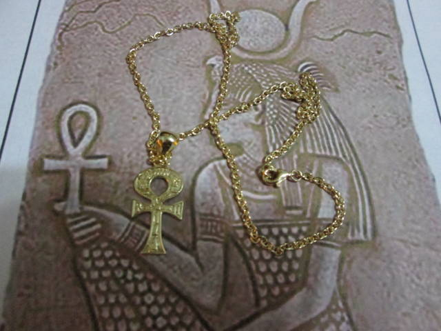 Ankh con Catena - Ciondolo (Oro) - Ankh with Chain - Pendant (Gold)