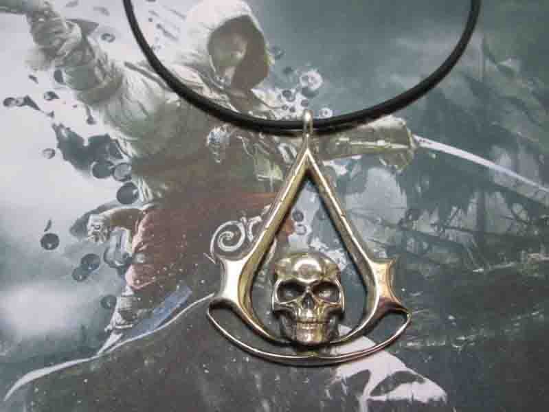 Assassin's Creed Black Flag - Ciondolo (Argento) - Assassin's Creed Black Flag - Pendant (Silver)