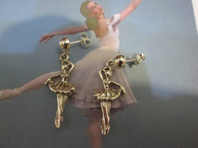 Ballerina - Orecchini (Argento) - Dancer - Earrings (Silver)
