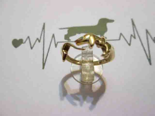 Bassotto - Anello (Oro) - Dachshund - Ring (Gold)