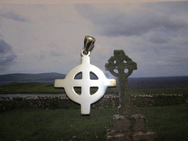Croce Celtica (Grande) (Argento) - Celtic Cross (Big) (Silver)