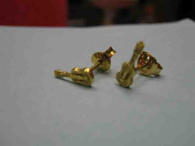 Chitarra - Orecchini (Oro) - Guitar - Earrings (Gold)