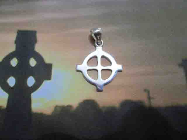 Croce Celtica (Piccola) - Ciondolo (Argento) - Celtic Cross (Small) - Pendant (Silver)