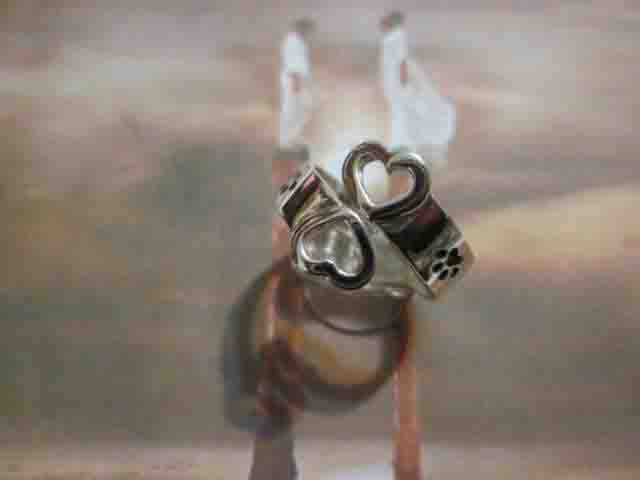 Due Cuori e Orme - Anello (Argento) - Two Hearts and Footprints - Ring (Silver)