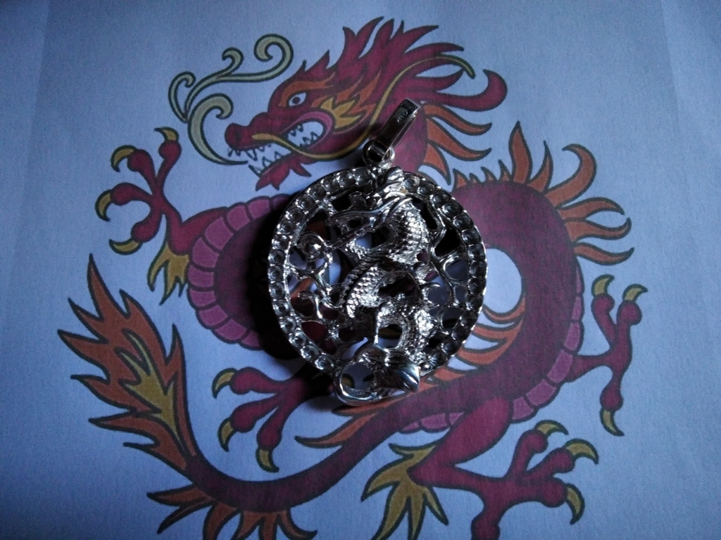 Medaglione del Drago Cinese - Ciondolo (Argento) - Medallion of the Chinese Dragon (Silver) - Pendant (Silver)
