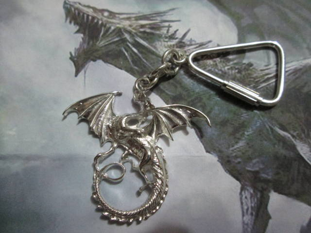 Drago di Game of Thrones - Portachiavi (Argento) - Dragon of Game of Thrones - Keyring (Silver)