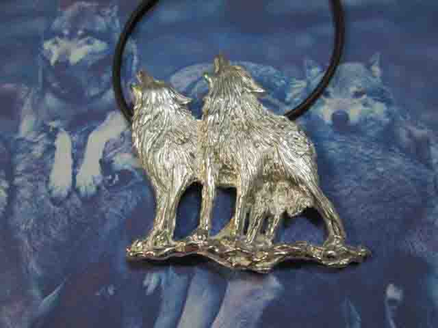 I Due Lupi - Ciondolo (Argento) - The Two Wolves - Pendant (Silver)