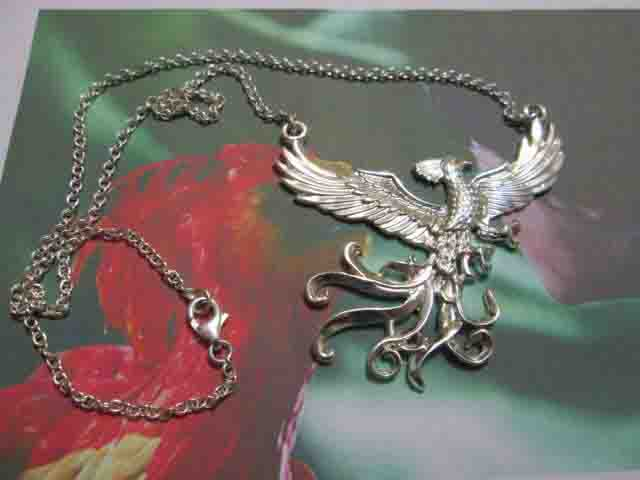 La Fenice Fanny - Collier (Argento) - Fanny the Phoenix - Necklace (Silver)