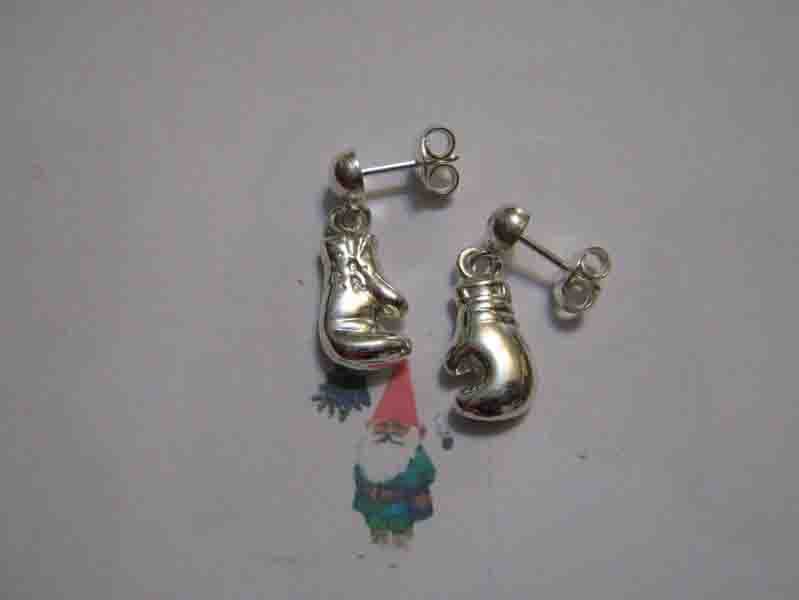 Orecchini da Boxe (Argento) - Boxing Glove Earrings (Silver)