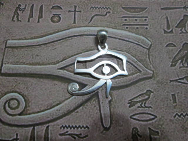 Occhio di Horus (Grande) - Ciondolo (Argento) - The Eye of Horus (Big) - Pendant (Silver)