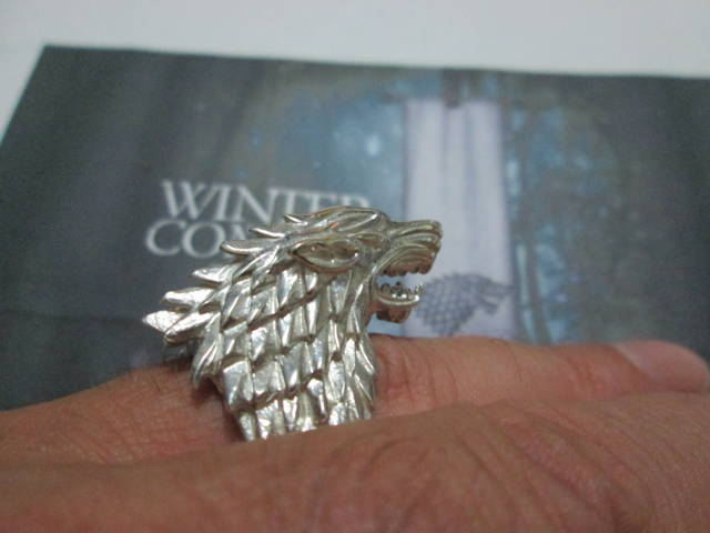 Lupo degli Stark - Anello (Argento) - The Wolf of Starks - Ring (Silver)