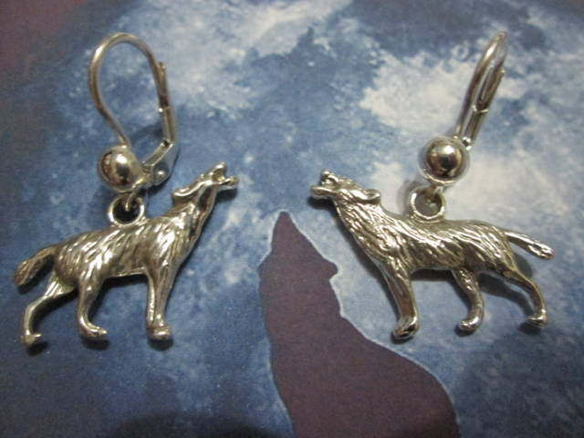 Lupi di Twilight - Orecchini (Argento) - Twilight Wolves - Earrings (Silver)