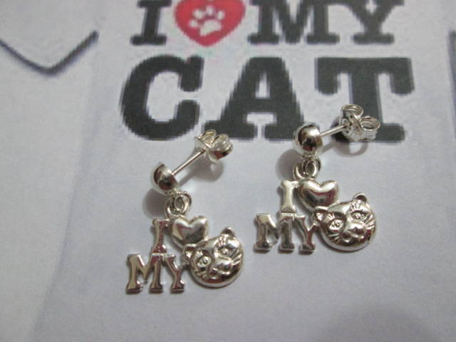 My Cat - Orecchini (Argento) - My Cat - Earrings (Silver)
