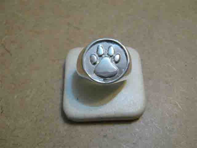 Orma Cane e Gatto - Anello (Argento) - Cat and Dog Footprint - Ring (Silver)