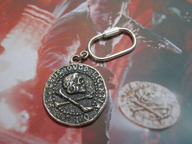 La Moneta del Pirata - Portachiavi (Argento) - The Pirate's Coin - Keyring (Silver)
