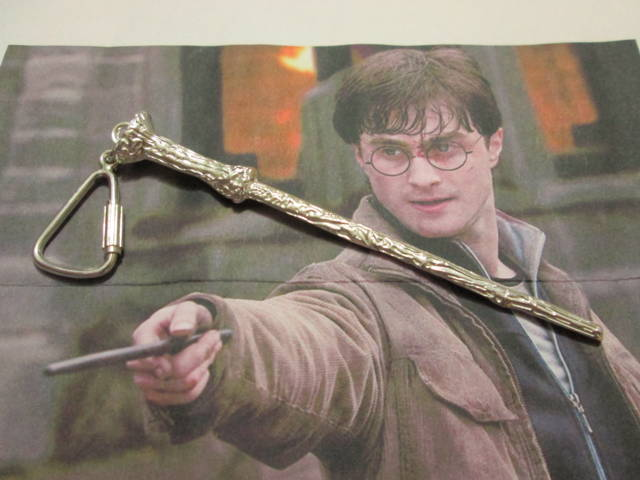 Bacchetta di Harry Potter - Portachiavi (Argento) - Harry Potter Magic Wand - Keyring (Silver)