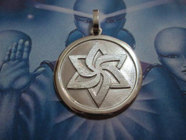 Simbolo del Movimento Raeliano - Ciondolo (Argento) - Symbol of the Raelian Movement - Pendant (Silver)
