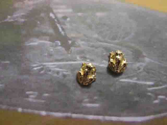 Rana - Orecchini (Oro) - Frog - Earrings (Gold)