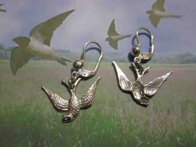 Rondine - Orecchini (Argento) - Swallow - Earrings (Silver)