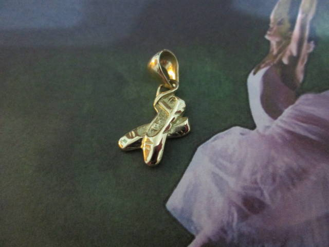 Scarpette da Ballo - Ciondolo (Oro) - Pointe Shoes - Pendant (Gold)