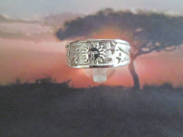 Sole e Stelle - Anello a Fascia (Argento) - Sun and Stars - Band Ring (Silver)