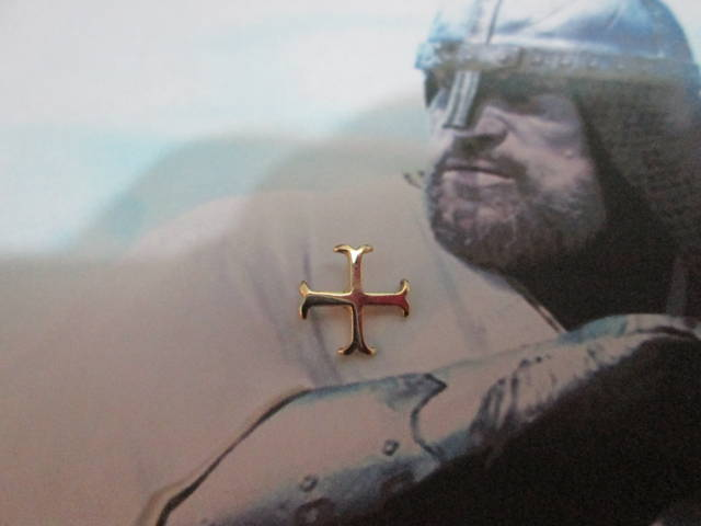 Maschere Greche - Spilla (Oro) - Cross of the Templar Knights - Pin (Gold)