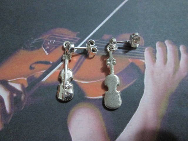 Violino - Orecchini (Argento) - Violin - Earrings (Silver)
